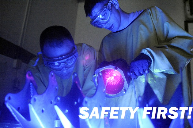 Protect yourself against UV exposure in an NDT workshop